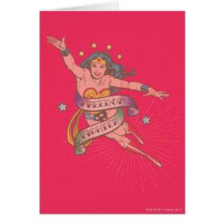 Cartes Combattant de liberté de femme de merveille