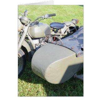 Cartes Combinaison militaire vintage de moto