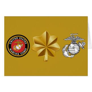 Cartes Commandant Major d'usmc 0-4