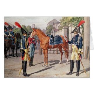 Cartes Commandez et garde de la garde royale en 1826