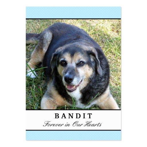 Cartes commémoratives de chien - moderne bleu avec modèles de cartes de visite