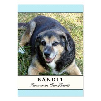 Cartes commémoratives de chien - moderne bleu avec modèle de carte de visite