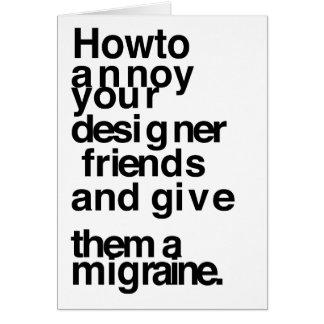 Cartes Comment ennuyer vos amis de concepteur