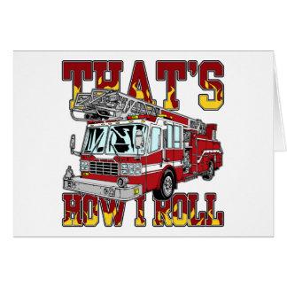 Cartes Comment je roule le camion de pompiers