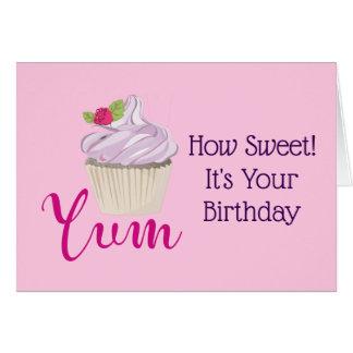 Cartes Comment petit gâteau doux d'anniversaire