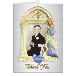 Cartes Communion de cadre d'ange de note de Merci