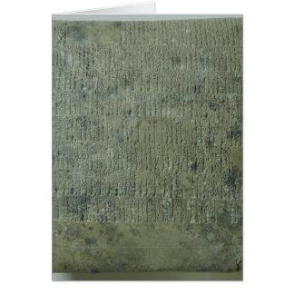 Cartes Comprimé avec le manuscrit cunéiforme