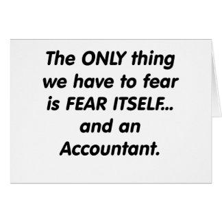 Cartes Comptable de crainte
