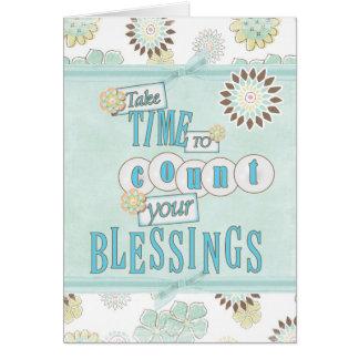Cartes Comptez vos bénédictions Gretting