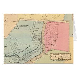 Cartes Comtés de crique de pétrole de la Pennsylvanie