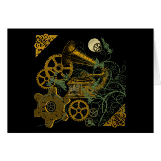 Cartes Conception affligée de Steampunk de regard