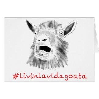 Cartes Conception animale drôle de slogan d'art de Vida