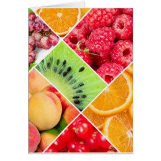 Cartes Conception colorée de motif de collage de fruit