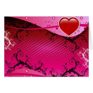 Cartes Conception d'amour de coeur