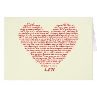 Cartes Conception d'art de coeur d'amour des Corinthiens