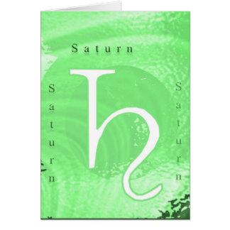 Cartes Conception d'astrologie de zodiaque de Saturn