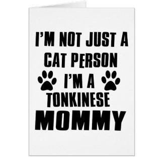 Cartes Conception de chat de Tonkinese