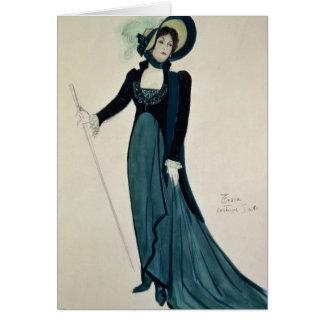 Cartes Conception de costume pour Tosca