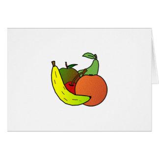 Cartes conception de fruit