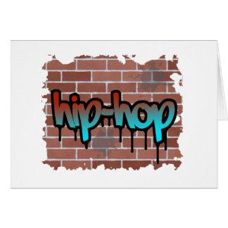 Cartes conception de graffiti de hip hop