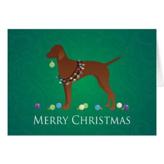 Cartes Conception de Joyeux Noël de chien de Vizsla