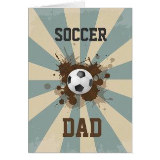 Cartes Conception de papa du football rétro