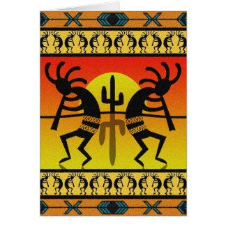 Cartes Conception de sud-ouest dansant Kokopelli