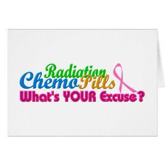 Cartes Conception d'excuse de chimio de cancer du sein