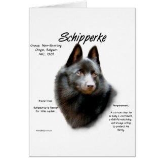 Cartes Conception d'histoire de Schipperke
