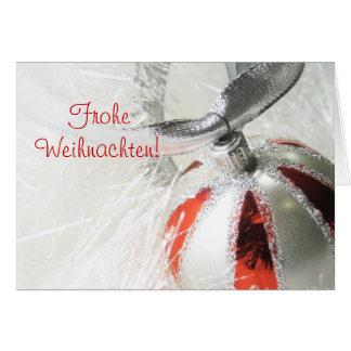 Cartes Conception d'ornement de Frohe Weihnachten