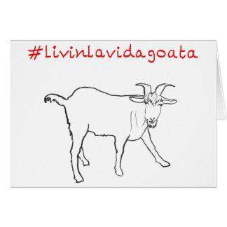 Cartes Conception drôle de slogan d'art de chèvre de Vida