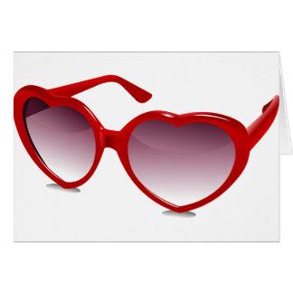 Cartes Conception en forme de coeur fraîche de lunettes