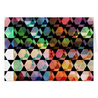 Cartes Conception graphique d'hexagone abstrait