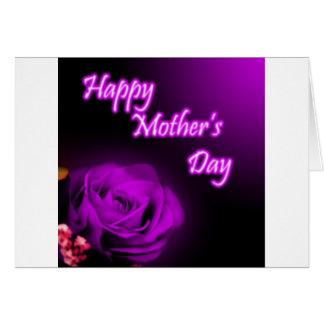 Cartes Conception heureuse du jour de mère de rose de