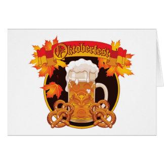 Cartes Conception ronde de célébration d'Oktoberfest