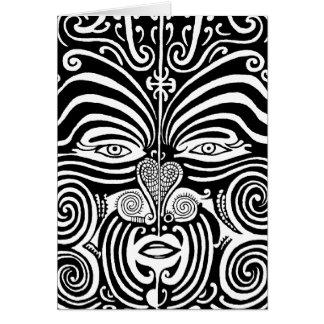Cartes Conception tribale maorie antique de tatouage de