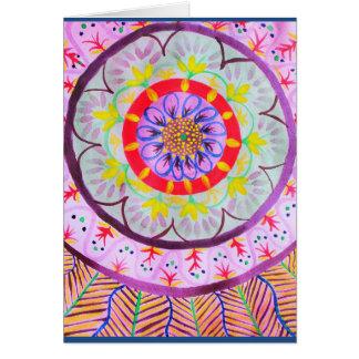 Cartes Conception vibrante de mandala d'aquarelle avec le