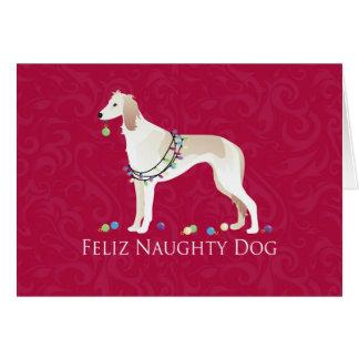 Cartes Conception vilaine de Noël de chien de Saluki
