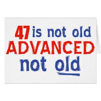 Cartes conceptions d'anniversaire de 47 années