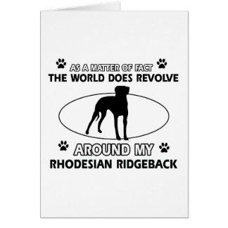 Cartes conceptions drôles de RHODESIAN RIDGEBACK