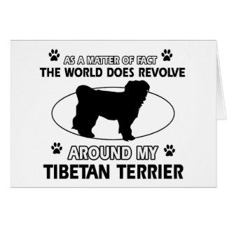 Cartes Conceptions drôles de terrier tibétain