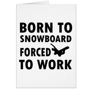 Cartes Conceptions fraîches de snowboarding