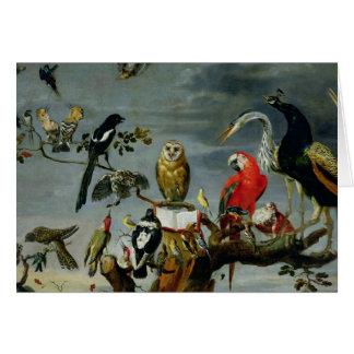 Cartes Concert des oiseaux