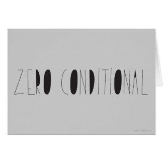 Cartes Conditionnel zéro
