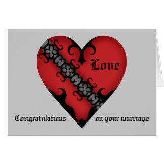 Cartes Congrats médiévaux gothiques romantiques de