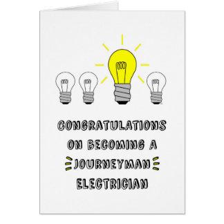 Cartes Congrats sur devenir un électricien de compagnon