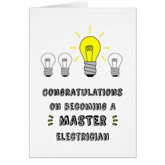 Cartes Congrats sur devenir un électricien principal