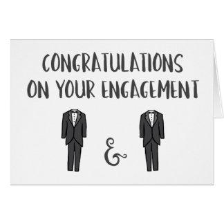 Cartes Congrats sur votre fiançailles - couple gai