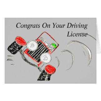 Cartes Congrats sur votre permis de conduire