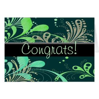 Cartes Congrats tourbillonnant !